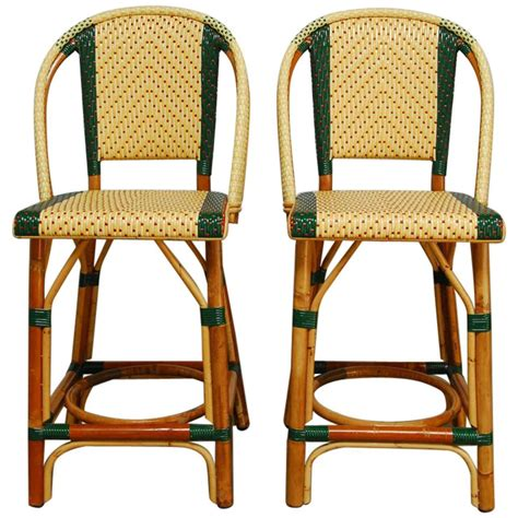 bistro bar chairs pair of rattan maison gatti bistro bar stools at