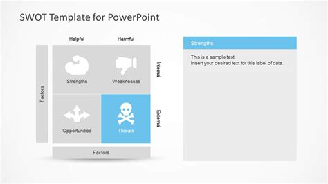 Simple Swot Powerpoint Template Slidemodel A Template In Powerpoint
