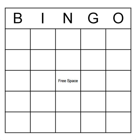 bingo template word sle blank bingo 8 documents in word pdf
