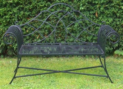 metal lutyens bench garden furniture shabby chic metal bench vintage look