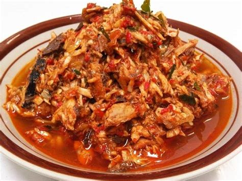 resep masak   membuat ikan tongkol suwir bumbu rica