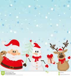 santa claus reindeer snowman background stock photos
