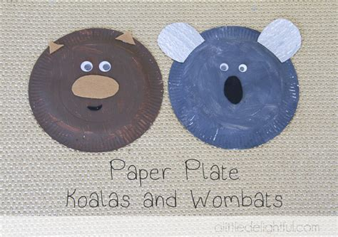 Koala Paper Plate Craft - australia day archives a delightful