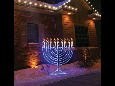 Hanukkah Outdoor Decorations Lights 14 Wonderfully Tacky Hanukkah Decorations You Need For Your Yard Brainjet