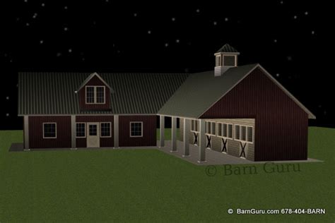 shed row horse barn  living quarters