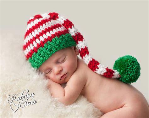 newborn christmas hat crochet stocking cap baby boy prop