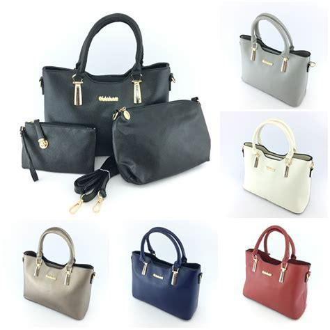 B1928 3in1 Black Tas Fashion Tas Impor Tas Cantik Murah jual b7660 black tas import set 3in1 grosirimpor