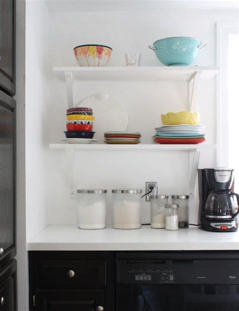 22 amazing kitchen makeovers open shelving shelving and diy open shelving gt gt http blog diynetwork com tool tips