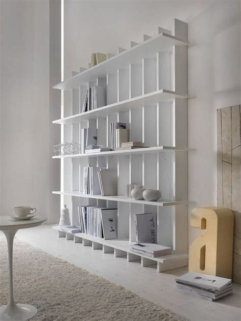 Open Bookshelf White Open Wooden Bookcase Babele By My Home Collection