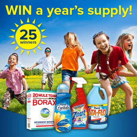Purex Sweepstakes - wash away summer stains with purex sweepstakes