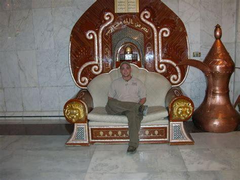 saddam hussein bathroom i sat in that same chair 2004 saddam s chair al faw