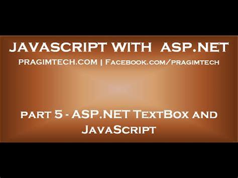 javascript tutorial by kudvenkat asp net textbox and javascript youtube