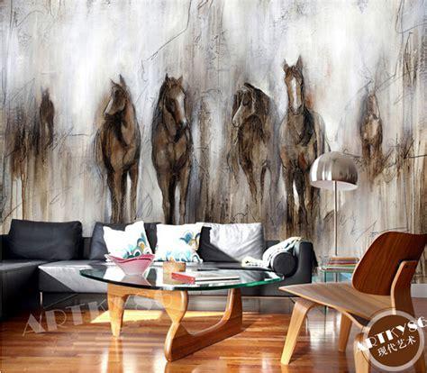 horse wallpaper for bedrooms aliexpress com buy custom horse wallpaper retro abstract