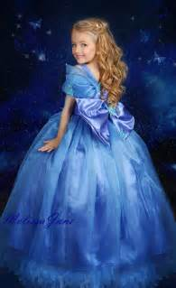 blue inspired cinderella princess girls dress