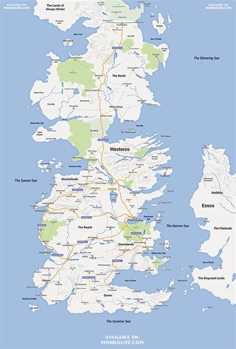 printable version google maps a google maps version of the continent of westeros from