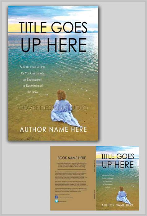 Child On Beach Book Cover Cover Design Studio Create Space Children S Book Template