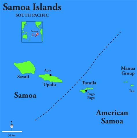 american samoa map american samoa map