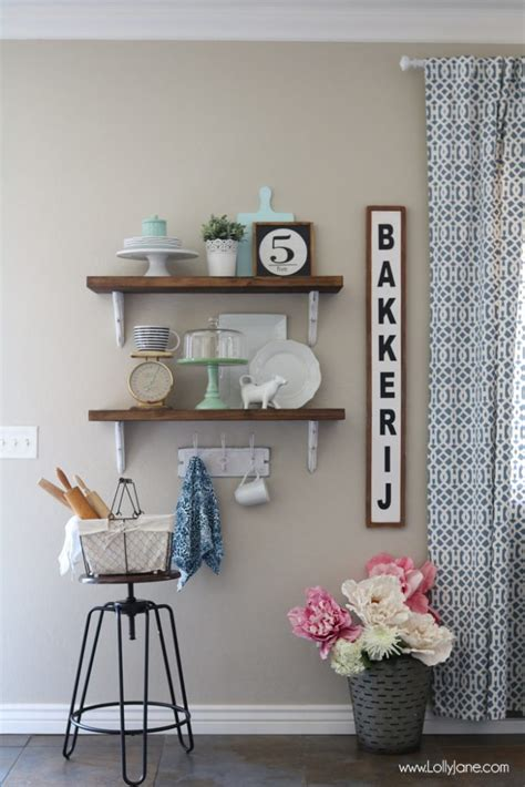 farmhouse shelves farmhouse chic dining room shelves lolly