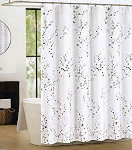tahari sprigs fabric shower curtain gray
