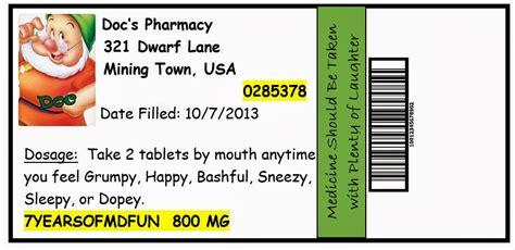 Invite And Delight October 2013 Prescription Label Template Microsoft Word