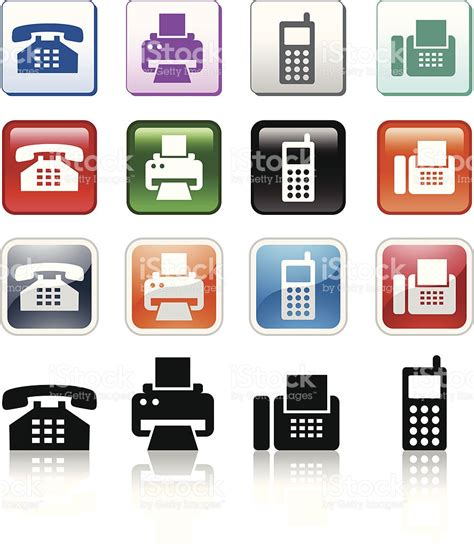 art and design address phone icons stock vector art more images of business