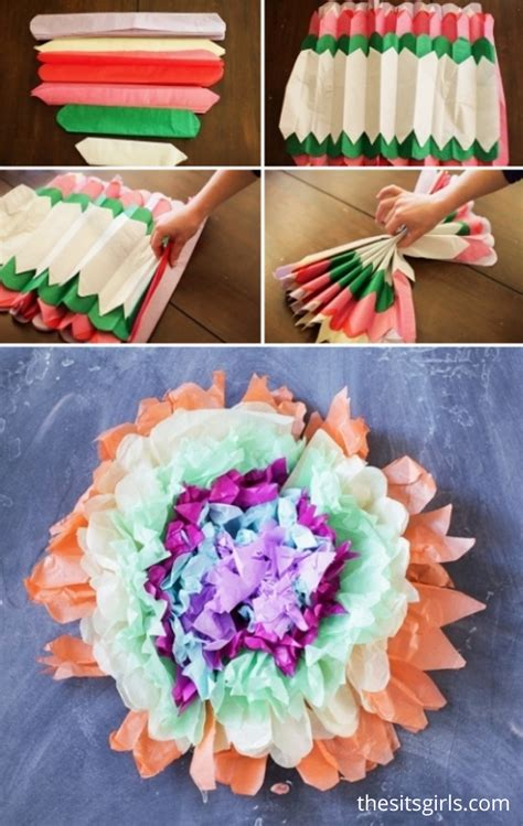 How To Make Tissue Paper Puffs - tissue paper flower puffs tissue paper flowers