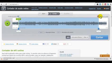 cortar archivos de audio p 237 ldoras tic cortador de archivos de audio online