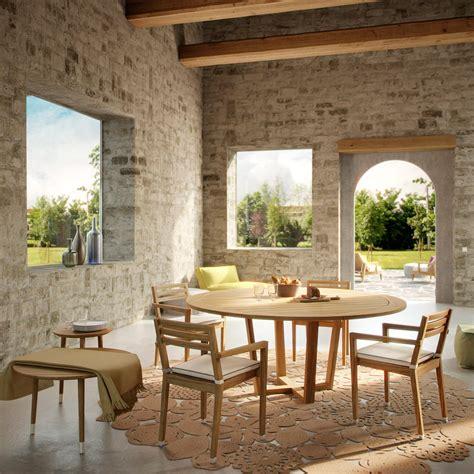 tavoli teak tavolo rotondo da esterno in teak italy design