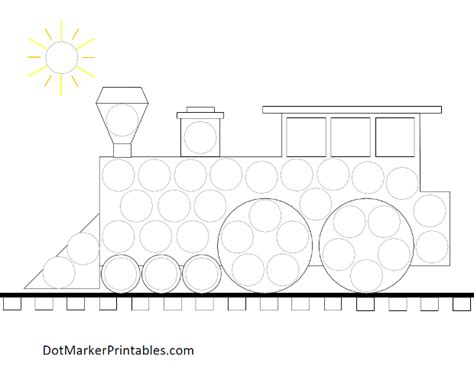 printable dot to dot train dotmarkerprintables transportation train engine png 620