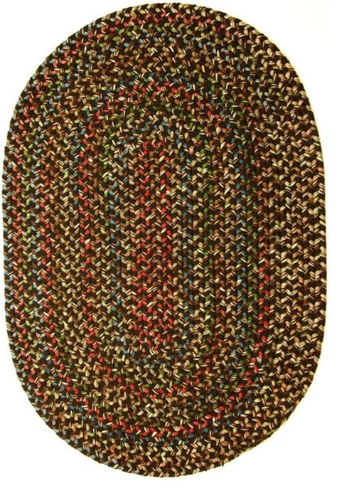 Large Oval Area Rugs 10 X13 Oval Large 10x13 Rug Brown Textured Braided Farmhouse Area Rugs By Area Rugs