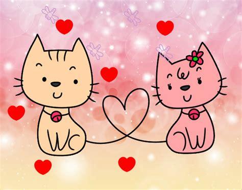 imagenes de amor de gatitos animados imagenes de gatos animados enamorados