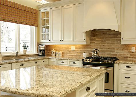 Tile Kitchen Backsplash Ideas Tropic Brown Countertop Travertine Backsplash Tile