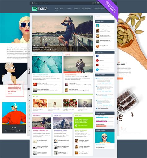 elegant themes gallery page extra drag drop magazine wordpress theme elegant themes