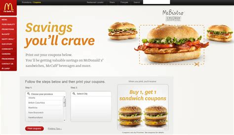 Printable Restaurant Coupons Winnipeg | mcdonald s lots of new mcdonalds canada coupons