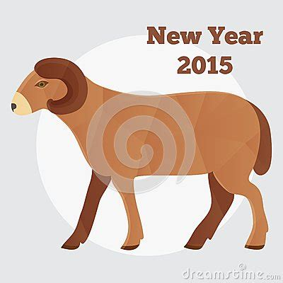 new year of the goat or sheep new year of the goat or sheep 2015 polygonal stock vector