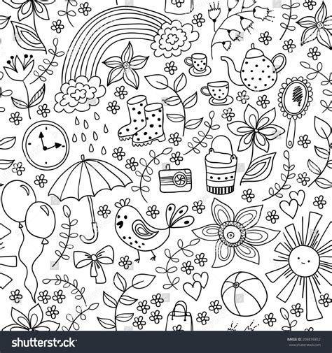 doodle how to use doodle seamless pattern childish style stock vector