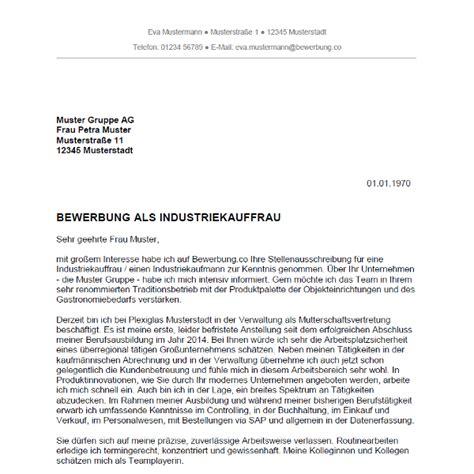 Anschreiben Bewerbung Vorlage Industriekauffrau Bewerbung Als Industriekauffrau Industriekaufmann Bewerbung Co