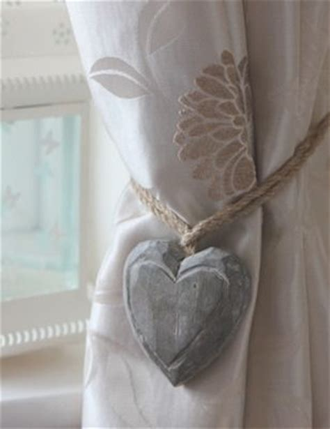 wood curtain tie backs wooden heart curtain tie backs for the home pinterest