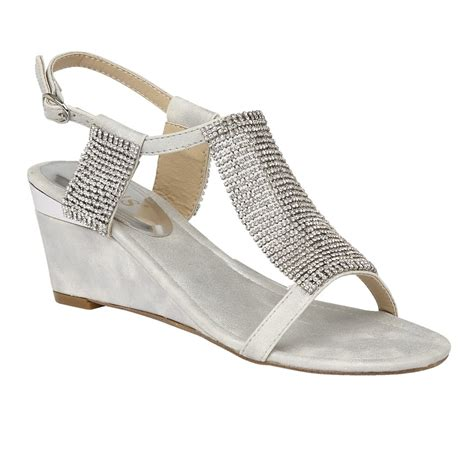 silver wedges shoes silver klaudia chainmail wedge sandals lotus sandals