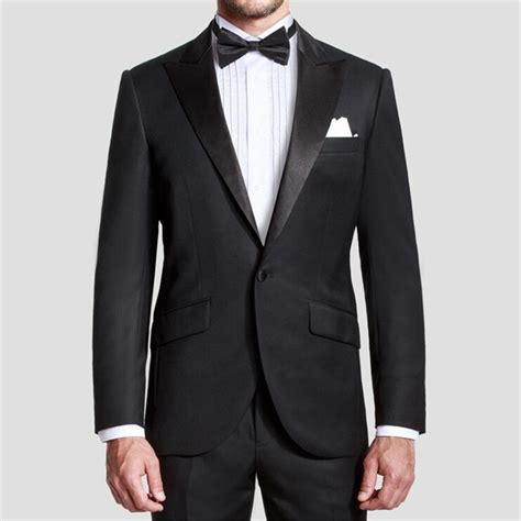Handmade Mens Suits - 2016 new custom made handmade black mens suit groom