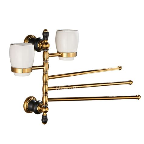 towel rack swing arm polished brass swing arm towel rack wall mount brush holder