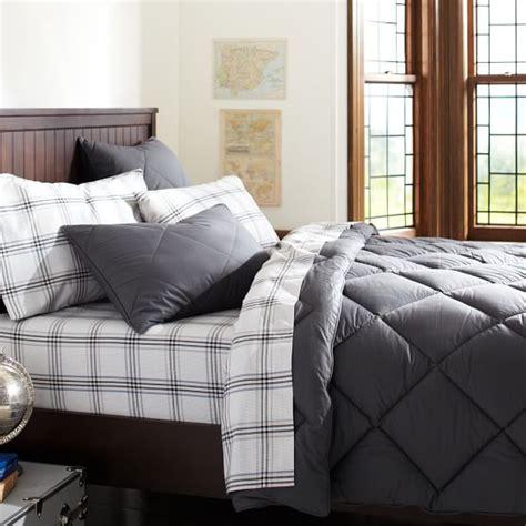 dark gray bedding solid comforter sham dark grey pbteen