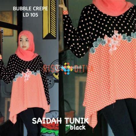 Fashion Baju Cewek Safana Tunik Murah Terbaru baju tunik cewek motif keren buble crepe terbaru 2016 murah dijual tribun jualbeli