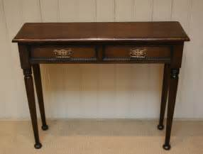 Thin Hallway Table Worboys Antiques Clocks Solid Oak Narrow Table
