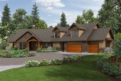 one house plans with walkout basement craftsman ranch house plans with walkout basement