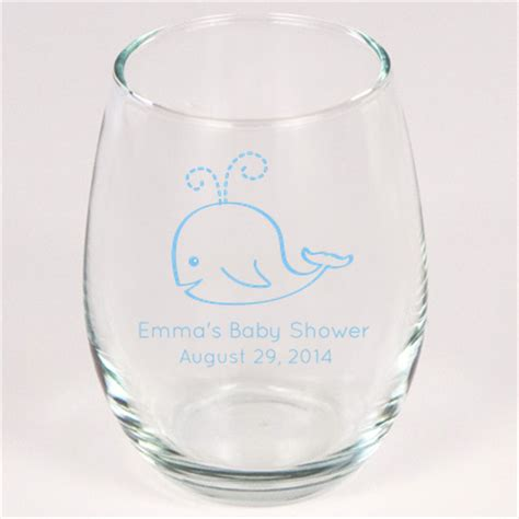 baby shower personalized wine glass personalized stemless baby shower wine glasses 9 oz