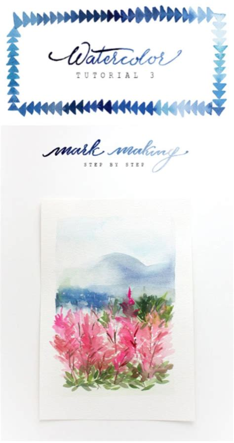watercolor tutorial the alison show watercolor tutorial part 3 mark making via the