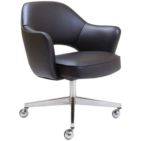 black swivel armchair saarinen executive arm chair in black leather swivel base