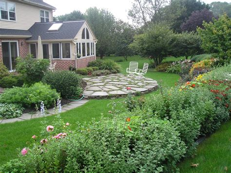 home garden design inc magnificent stone garden design idea using round fire pit with seating and stacked around also