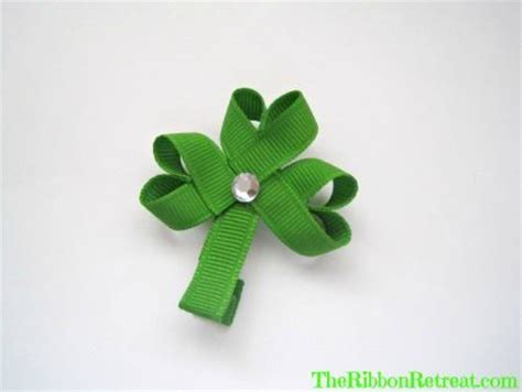 ribbon shamrock instructions shamrock ribbon sculpture the ribbon retreat blog